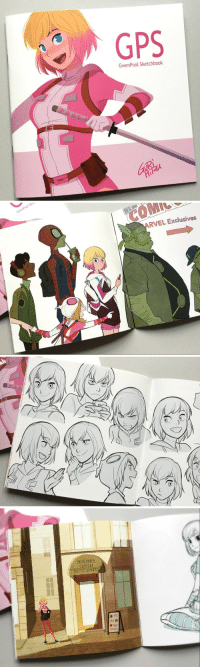 Tumblr, Twitter, and Gps: GPS  GwenPool Sketchbook   Sk  COMIC  ARVEL Exclusives   BIGRONNES  CUSTOM  BATTLE SPANDE sweetpoole:The GwenPool Sketchbook (GPS) by @gurihiru