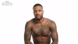 """Memes, Sports, and Tattoos: GQ  SPORTS """"Certified Fly Guy"""" @Dame_Lillard explains the meaning behind all of his tattoos.   The Oakland Torch is a tribute to all of the great Oakland point guards before him.   🎥 @GQMagazine https://t.co/42Ljugvbs9"""