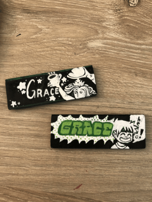 my nametags for work!!: *GRACE  A  GRAGEN  titi my nametags for work!!