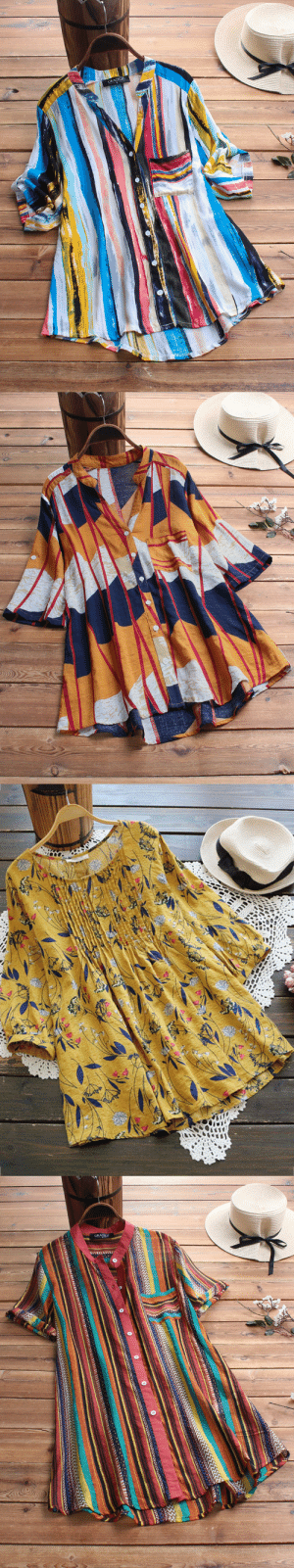permanentfilemugglethings: Multicolor Striped Print ¾ Sleeve Blouse For Girl Check out HERE 20% off coupon code:August20 : GRACILA   GRACILA permanentfilemugglethings: Multicolor Striped Print ¾ Sleeve Blouse For Girl Check out HERE 20% off coupon code:August20
