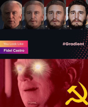 I love dictatorships:  #Gradient  You Look Like  Fidel Castro  Ironic I love dictatorships
