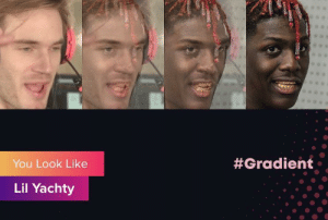 I can definitely see it. Can you?:  #Gradient  You Look Like  Lil Yachty I can definitely see it. Can you?