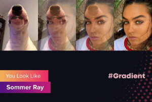 walter:  #Gradient  You Look Like  Sommer Ray walter