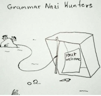 Memes, Hunting, and 🤖: Grammar Nazi  Hunters  your  welcome This is how we hunt them.