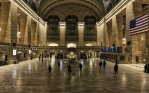 Grand Central Terminal is like a ghost town.: Grand Central Terminal is like a ghost town.