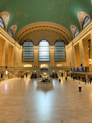 Grand Central Terminal looking like a ghost town this morning: Grand Central Terminal looking like a ghost town this morning