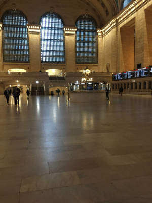 Grand Central Terminal - New York City - 03/15/2020 - Usually full on weekends..now a ghost town: Grand Central Terminal - New York City - 03/15/2020 - Usually full on weekends..now a ghost town