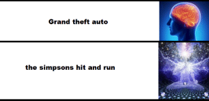 hit and run: Grand theft auto  the simpsons hit and run