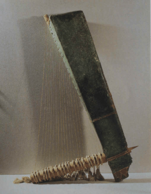 grandegyptianmuseum: Ancient Egyptian Musical Instrument Triangle harp, made of wood and copper. Late Period, ca. 664-332 BC. 26th to 30th Dynasty. Now in the Louvre. : grandegyptianmuseum: Ancient Egyptian Musical Instrument Triangle harp, made of wood and copper. Late Period, ca. 664-332 BC. 26th to 30th Dynasty. Now in the Louvre.