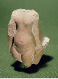 Family, Period, and Royal Family: grandegyptianmuseum:  Torso of an Egyptian queen, probably Nefertiti, found at Tell el-Amarna (quartzite) from a statuette group of the royal family. Amarna Period, New Kingdom, 18th Dynasty, ca. 1353-1336 BC. Now in the Petrie Museum.