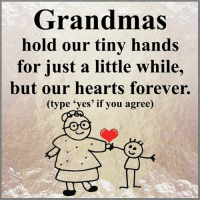 Grandmas Hold Our Tiny Hands For A Little While But Our Hearts Forever Magnet