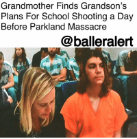 "Memes, Money, and Police: Grandmother Finds Grandson's  Plans For School Shooting a Day  Before Parkland Massacre  @balleralert Grandmother Finds Grandson's Plans For School Shooting a Day Before Parkland Massacre - Blogged by: @RaquelHarrisTV ⠀⠀⠀⠀⠀⠀⠀⠀⠀ ⠀⠀⠀⠀⠀⠀⠀⠀⠀ Another student was plotting a mass shooting at a Washington state high school but didn't get away with it because his grandmother turned his plans into police. ⠀⠀⠀⠀⠀⠀⠀⠀⠀ ⠀⠀⠀⠀⠀⠀⠀⠀⠀ On Tuesday, just a day before the Parkland, Fla. high school terror attack, Catherine Katsel-O'Connor called the police after she found notes in her grandson's journal about shooting students at ACES high school. ⠀⠀⠀⠀⠀⠀⠀⠀⠀ ⠀⠀⠀⠀⠀⠀⠀⠀⠀ The grandmother says she was alarmed by the evil ideas her grandson Joshua Alexander O'Connor's kept in his journal. But what shocked her more was the semi-automatic rifle she found in his guitar case. ""I'm preparing myself for the school shooting,"" the teenager wrote, according to court documents. ""I can't wait. My aim has gotten much more accurate ... I can't wait to walk into that class and blow all those f--ers away."" ⠀⠀⠀⠀⠀⠀⠀⠀⠀ ⠀⠀⠀⠀⠀⠀⠀⠀⠀ As soon as authorities found out about the man's plans they pulled him from his Kamiak High School class and arrested him. While in custody Joshua attempted to run away and kicked one of the police. In the end, police were able to subdue the man. ⠀⠀⠀⠀⠀⠀⠀⠀⠀ ⠀⠀⠀⠀⠀⠀⠀⠀⠀ Joshua has been charged with attempted murder, assault of a police officer and armed robbery because of money he had stolen to fund his attack. His bail was set at $5 million."