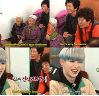 grandma get in line . . . . . . . . Credit to owner✌: Grandmother: Youre very handsome  irstyle fancy  very handsome  e Wanho: Thank you grandma get in line . . . . . . . . Credit to owner✌