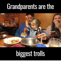 Dank, Troll, and Trolling: Grandparents are the  biggest trolls This grandfather is a professional at trolling his little granddaughter 😂😂🍅