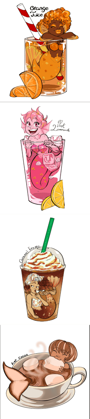 secretsivekept: Mermaids as fun drinks!!! :D I'm going to be selling these designs tomorrow todayshhdontjudgemeandmypoorsleephabits as stickers at an event at my college. Would have made more but ran out of time ;w;  Bonus: : Grange  Juice   ot Cocoa secretsivekept: Mermaids as fun drinks!!! :D I'm going to be selling these designs tomorrow todayshhdontjudgemeandmypoorsleephabits as stickers at an event at my college. Would have made more but ran out of time ;w;  Bonus: