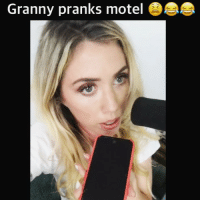 Memes, Link, and 🤖: Granny pranks motel It went on for at least 20 minutes you have to listen 😂😭😂😭 Link IN BIO 😂 lauraclerypodcast