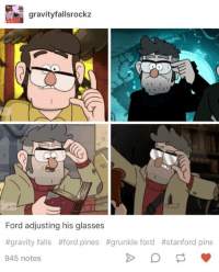 Gravity Falls: gravityfallsrockz  Ford adjusting his glasses  #gravity falls #ford pines #grunkle ford #stanford pine  945 notes