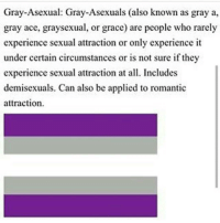 Me -Taylor🌹 asexualspectrum ace acespectrum asexual lgbt lgbtq grayace grayasexual demisexual love aro aromantic demiromantic agender: Gray-Asexual: Gray-Asexuals (also known as gray a,  gray ace, graysexual, or grace) are people who rarely  experience sexual attraction or only experience it  under certain circumstances or is not sure if they  experience sexual attraction at all. Includes  demisexuals. Can also be applied to romantic  attraction. Me -Taylor🌹 asexualspectrum ace acespectrum asexual lgbt lgbtq grayace grayasexual demisexual love aro aromantic demiromantic agender