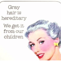 Children, Memes, and We Get It, You Vape: Gray  hair is  hereditary  We get it  from our  children