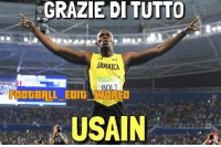 Football, Meme, and Memes: GRAZIE DI TUTTO  JAMAICA  FoOtBRUL EOIG WOALD  USAIN Beffato @usainbolt ! Il giamaicano conclude a 31 anni la sua carriera con un bronzo. Sembra improbabile però un ritiro con una sconfitta per questo campione, ma in ogni caso grazie di tutto Usain 🇯🇲! 🔊Che ne pensate della sua gara? soccer football calcio meme memes memesdaily foot memecalcio calciomeme likeforlike followforfollow evolution today amazing boom giamaica usain bolt usainbolt epic fantastic atletica 💥 thanks goodbye grazie thank thanksusain