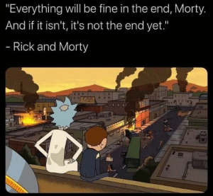 Great advice from Rick and Morty: Great advice from Rick and Morty