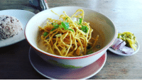 Great bowl of khaosoi at yummy just up the road from Blue Diamond which the girls and I didn't rate much. Yummy has delicious food, friendly staff and half the price of Blue Diamond thaifood thailand chiangmai vegantravel nomad veganfoodisthebest