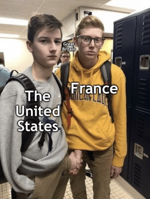 Meme, France, and History: Great  Britain  France  The  United  States Revolutionary meme oh yea