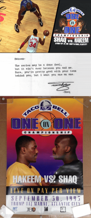 Great marketing by Taco Bell! A lot of people really thought Shaq was so mad about getting swept by the Rockets that he placed a personal challenge to Hakeem in the USA Today. https://t.co/a0YdX9v3ZT https://t.co/85Po0Wr8zs: Great marketing by Taco Bell! A lot of people really thought Shaq was so mad about getting swept by the Rockets that he placed a personal challenge to Hakeem in the USA Today. https://t.co/a0YdX9v3ZT https://t.co/85Po0Wr8zs