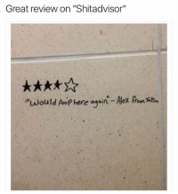 """4 stars or more for my backside 😂💩 (@_kevinboner ): Great review on """"Shitadvisor""""  """"would poop here agsin - Alex from TilSa 4 stars or more for my backside 😂💩 (@_kevinboner )"""