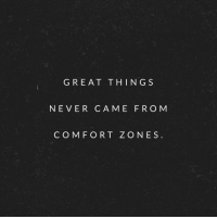 Motivational quote of the day! https://t.co/bA5s5x6Q1G: GREAT THINGS  NEVER CAME FRO M  COM FORT ZONES Motivational quote of the day! https://t.co/bA5s5x6Q1G