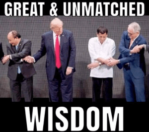 Genius, Figure It Out, and Wisdom: GREAT&UNMATCHED  WISDOM Mr. Very Stable Genius can't figure it out