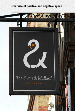 epicjohndoe:  Perfect Logo: Great use of positive and negative space...  The Swan & Mallard  RESTAURANT epicjohndoe:  Perfect Logo