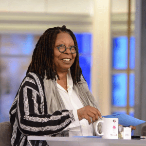 Memes, 🤖, and Table: Great way to kick off the week with @whoopigoldberg at the table! ❤️