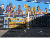 Another LA-Bron mural, another vandal (via Diehardheatfan1/Twitter): GREAT WESTERN FORUM w  DONT HATE  HE PLAYER.  KATE THE  GAME  @GZ JR  SPORTIELA  FAMETARD Another LA-Bron mural, another vandal (via Diehardheatfan1/Twitter)