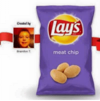 lays chips: Greated by  Brandon T  lays  meat chip