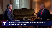 History, United, and United States: GREATEST ECONOMY IN THE HISTORY  OF OUR COUNTRY Story after story comes out with a negative spin, but we are doing GREAT things. The economy of the United States is stronger than ever before!