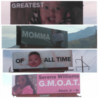 Love, Memes, and Serena Williams: GREATEST  MOMM  OF  ALL TIME  Serena Williams  G.M.O.A.T  - Alexis Jr +Sr  LAMAR To SerenaWilliams, Love AlexisOhanian Jr & Sr (swipe)