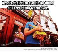 Memes, Awesome, and Awesome Pictures: Greatest pictureeverto betaken  Harry Potterworld ever.  THEMETAPICTU  more awesome pictures at THEMETAPICTURE.COM