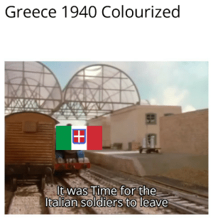 Greece: Greece 1940 Colourized  +  It was Time for the  Italian soldiers to leave Greece