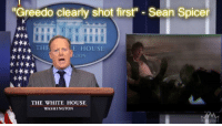 """Greedo clearly shot first"" Sean Spicer  THE  E HOUSE  GTON  THE WHITE HOUSE  WASHINGTON"