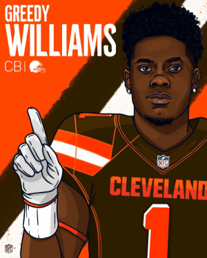 Another @LSUfootball product heading to Cleveland 🔥  Welcome to the @Browns, @Greedy! #NFLDraft https://t.co/CM2ZC9EJBN: GREEDY  WILLIAMS  CBI  NFL  CLEVELAND Another @LSUfootball product heading to Cleveland 🔥  Welcome to the @Browns, @Greedy! #NFLDraft https://t.co/CM2ZC9EJBN
