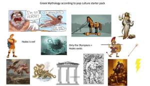 Greek Mythology according to pop culture starter pack: Greek Mythology according to pop culture starter pack