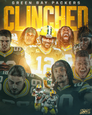The @packers have clinched a spot in the #NFLPlayoffs! #GoPackGo https://t.co/SqukdsM7ZK: GREEN BAY P ACKERS  CLINCHED  12  NFL  RI  BA The @packers have clinched a spot in the #NFLPlayoffs! #GoPackGo https://t.co/SqukdsM7ZK