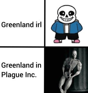 30-minute-memes:Thicc skelly: Greenland irl  Greenland in  Plague Inc. 30-minute-memes:Thicc skelly