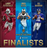 Congratulations to the 2016 Walter Payton Man of the Year award Finalists! WPMOY: GREG  LARRY  ELI  MANNING  OLSEN  FITZGERALD  CANALS  NFL  WALTER PAY TO N  MAN OF THE YEAR  PRESENTED BY  Nationwide  FINALISTS Congratulations to the 2016 Walter Payton Man of the Year award Finalists! WPMOY