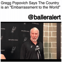 "America, Comfortable, and Community: Gregg Popovich Says The Country  is an ""Embarrassment to the World""  15  (C  @balleralert  OPURS.COM  COM  SPURS.COM  SPURS.COM  COM Gregg Popovich Says The Country is an ""Embarrassment to the World"" - blogged by @MsJennyb ⠀⠀⠀⠀⠀⠀⠀ ⠀⠀⠀⠀⠀⠀⠀ Once again, San Antonio Spurs head coach GreggPopovich is speaking out against DonaldTrump's rude and divisive comments. ⠀⠀⠀⠀⠀⠀⠀ ⠀⠀⠀⠀⠀⠀⠀ Popovich addressed Trump and the current state of the country under his ruling, as the celebrity-in-chief intertwined politics and sports in his most recent attack on NFL players who protest racial injustices during the national anthem. ⠀⠀⠀⠀⠀⠀⠀ ⠀⠀⠀⠀⠀⠀⠀ ""Each one of them has the right and ability to say what they'd like to say and act the way they like to act. They have our full support,"" Popovich said per Melissa Rohlin. ""I think these ppl have been enabled by an example we've been given, you've seen it in Charlottesville,"" he continued, discussing the enabling of racism in America. ⠀⠀⠀⠀⠀⠀⠀ ⠀⠀⠀⠀⠀⠀⠀ ""Our country is an embarrassment to the world,"" he added. ⠀⠀⠀⠀⠀⠀⠀ ⠀⠀⠀⠀⠀⠀⠀ He then spoke about Trump's decision to rescind Steph Curry's invitation to the White House, in which Popovich thought was ""comical - because they weren't going anyway."" ⠀⠀⠀⠀⠀⠀⠀ ⠀⠀⠀⠀⠀⠀⠀ Popovich also divulged about white privilege, and how a discussion about race is necessary to make those that are comfortable - uncomfortable. ⠀⠀⠀⠀⠀⠀⠀ ⠀⠀⠀⠀⠀⠀⠀ ""Obviously, race is the elephant in the room, and we all understand that. Unless it is talked about constantly, it's not going to get better. ... 'Oh, that again. They pulled the race card again. Why do we have to talk about that?' Well, because it's uncomfortable. There has to be an uncomfortable element in the discourse for anything to change, whether it's the LGBT community or women's suffrage, race, it doesn't matter. People have to be made to feel uncomfortable, and especially white people, because we're comfortable. We still have no clue of what being born white means. And if you read some of......to read the rest log on to BallerAlert.com (clickable link on profile)"