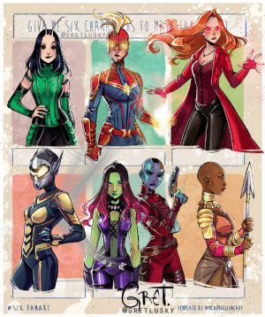 gretlusky:  Six fanarts challenge- ✨Marvel edition 💫Choose your fighter!  Some close-ups of the characters._____For exclusive videos, high res images and much more content, please check out my Patreon page! ✨Patreon: gretlusky:  Six fanarts challenge- ✨Marvel edition 💫Choose your fighter!  Some close-ups of the characters._____For exclusive videos, high res images and much more content, please check out my Patreon page! ✨Patreon