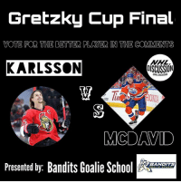 It all comes down to this! The GretzkyCup Final! Crown the NHL's best player by voting for the better player! 🏒TAG ALL YOUR BUDS TO HELP YOUR PICK WIN!🏒 The worlds best defenseman, or the highest scorer!!??!! KARLSSON or MCDAVID • Check out the best page goalie page on Instagram, @banditsgoaltending !!! • McDavid Karlsson Senators Ottawa Oilers Edmonton nhldiscussion Vote Poll Final NHL Hockey BestPlayer Forward Defense @mcdavid97 @erikkarlsson65 EK65 CaptainConnor ConnorMcDavid KingKarl CM97 97 65: Gretzky Cup Final  VOTE FOR THE BETTER PLAYER IN THE COMMENTS  KARLSSON  DISCUSSION  100  5  MCDAVID  Presented by: Bandits Goalie Sc  BANDITS It all comes down to this! The GretzkyCup Final! Crown the NHL's best player by voting for the better player! 🏒TAG ALL YOUR BUDS TO HELP YOUR PICK WIN!🏒 The worlds best defenseman, or the highest scorer!!??!! KARLSSON or MCDAVID • Check out the best page goalie page on Instagram, @banditsgoaltending !!! • McDavid Karlsson Senators Ottawa Oilers Edmonton nhldiscussion Vote Poll Final NHL Hockey BestPlayer Forward Defense @mcdavid97 @erikkarlsson65 EK65 CaptainConnor ConnorMcDavid KingKarl CM97 97 65