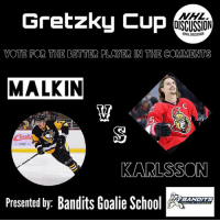 Back to Back, Memes, and National Hockey League (NHL): Gretzky Cup  NHL  OISCUSSION  ONHL DISCUSSION  VOTE FOR THE BETTER PLAYER IN THE COMMENTS  MALKIN  5  O ONE B  KARLSSON  Presented by: Bandits Goalie Sc  BANDITS 🏒TAG ALL YOUR BUDS TO HELP YOUR PLAYER WIN!!🏒 Who will face off against Crosby? The NHL's most dynamic defenseman, Erik KARLSSON or back-to-back StanleyCup Champion, Evgeni MALKIN ! Vote the better player in the comments. • Check out @banditsgoaltending Malkin Karlsson gretzkycup nhldiscussion Senators Penguins