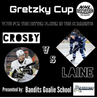 Instagram, Memes, and National Hockey League (NHL): Gretzky Cup  NHL  OISCUSSION  ONHLDISCUSSION  VOTE FOR THE BETTER PLAYER IN THE COMMENTS  CROSBY  贺  AINE  Presented by: Bandits Goalie Sc  BANDITS The first Gretzky Cup matchup is Patrik Laine vs Sidney Crosby! Vote for the better player in the comments! Results will be revealed tomorrow! Crosby or Laine ? • Check out @banditsgoaltending, the best goalie content page on instagram! NHLDiscussion GretzkyCup